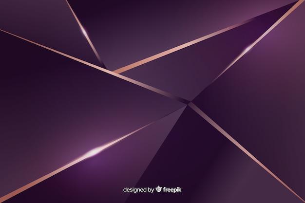 Fond décoratif polygonale foncé élégant Vecteur gratuit