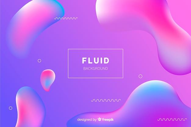Fond dégradé abstrait avec des formes fluides Vecteur gratuit