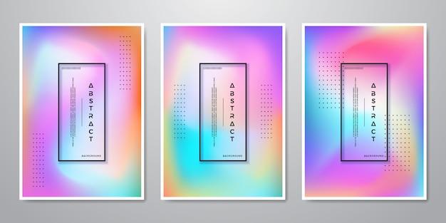 Fond dégradé abstrait tendance formes holographiques Vecteur Premium