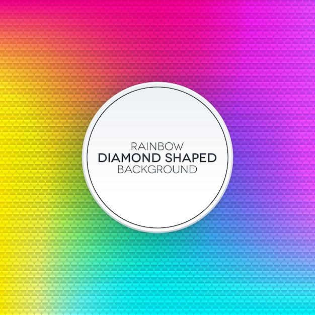 Fond Dégradé Arc En Ciel Avec Texture En Forme De Diamant