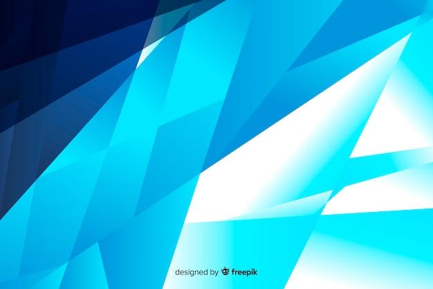 Fond Dégradé De Formes Abstraites Bleues Vecteur gratuit