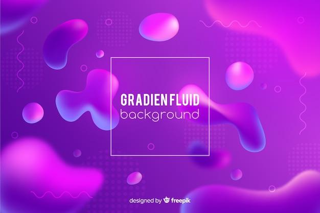 Fond dégradé avec des formes fluides Vecteur gratuit