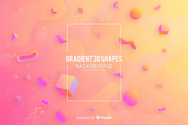 Fond dégradé avec des formes géométriques Vecteur gratuit