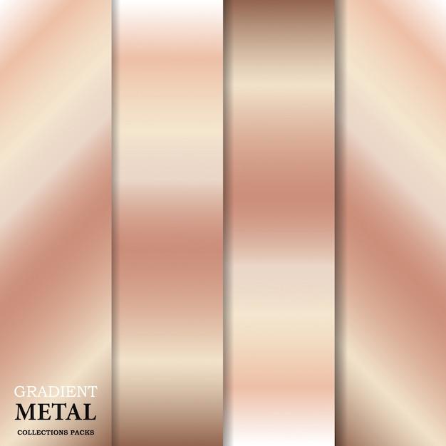 Fond dégradé en métal doré Vecteur Premium