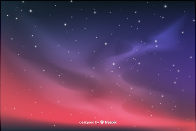 Fond dégradé de nuit étoilée Vecteur gratuit