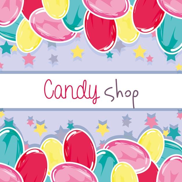 Fond de délicieux bonbons sucrés Vecteur Premium