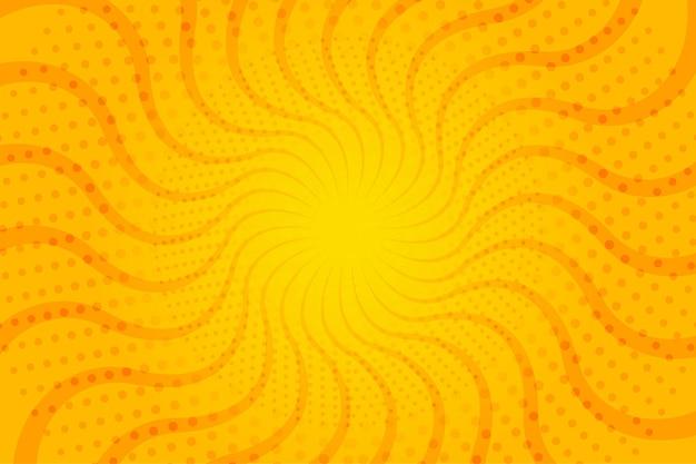 Fond De Demi-teintes Abstraites Rayons De Soleil Ondulés Vecteur gratuit