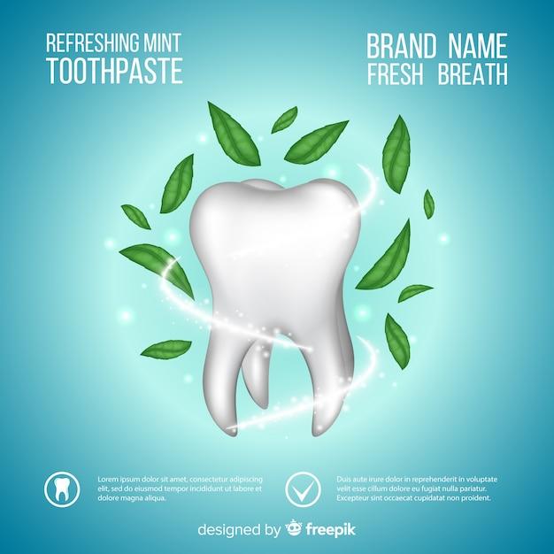 Fond de dentifrice réaliste Vecteur gratuit