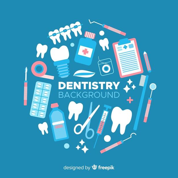 Fond de dentiste plat Vecteur gratuit