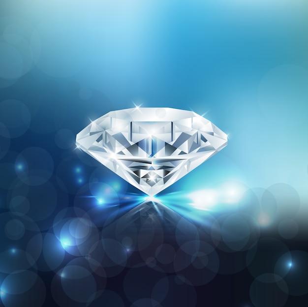 Fond de diamant brillant Vecteur Premium