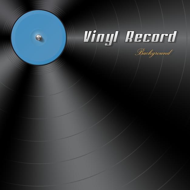 Fond de disque vinyle Vecteur Premium
