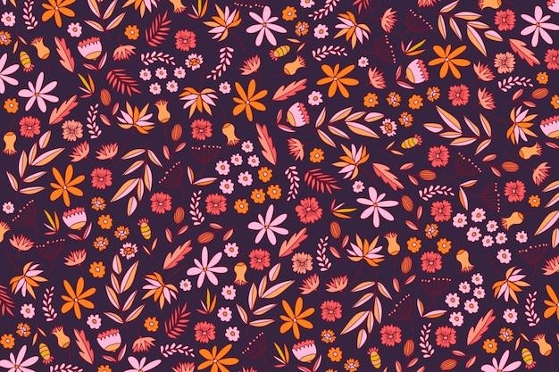 Fond ditsy floral Vecteur gratuit