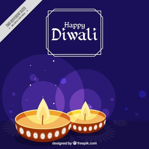 Fond diwali bokeh Vecteur gratuit