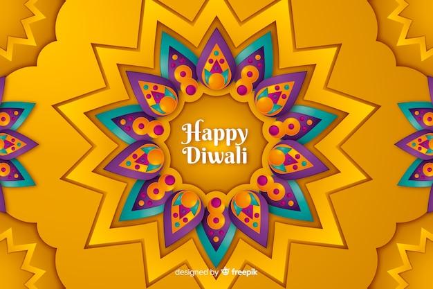 Fond de diwali dans le style de papier Vecteur gratuit
