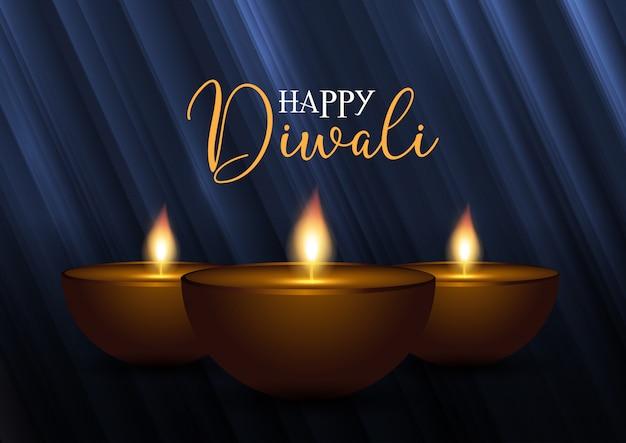 Fond de diwali décoratif Vecteur gratuit