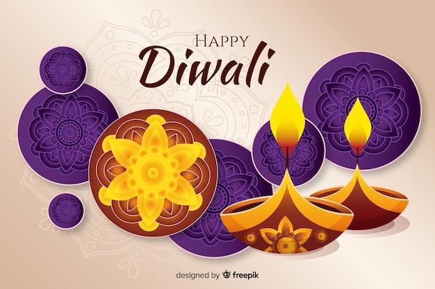 Fond de diwali dessiné à la main Vecteur gratuit