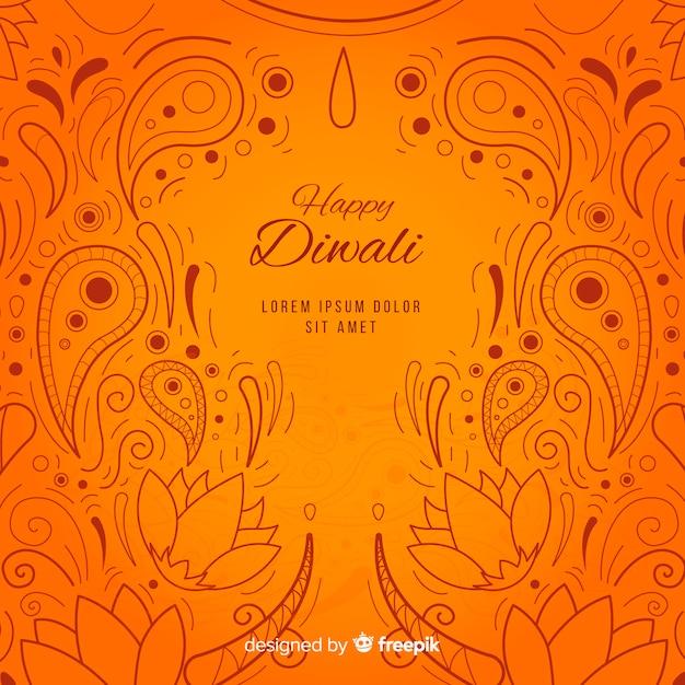 Fond de diwali dessinés à la main Vecteur gratuit