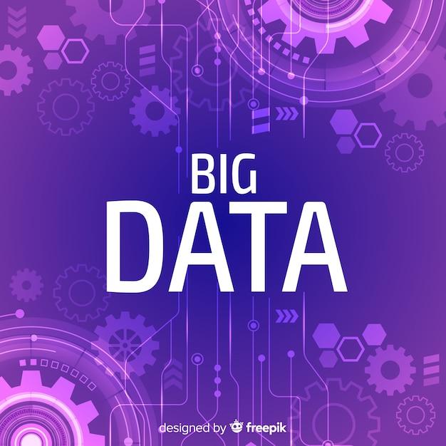 Fond de données volumineuses Vecteur gratuit