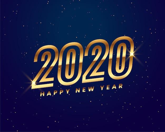 Fond doré brillant 2020 nouvel an créatif Vecteur gratuit