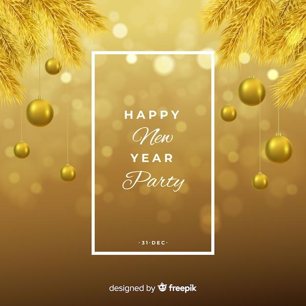 Fond doré du nouvel an 2019 Vecteur gratuit
