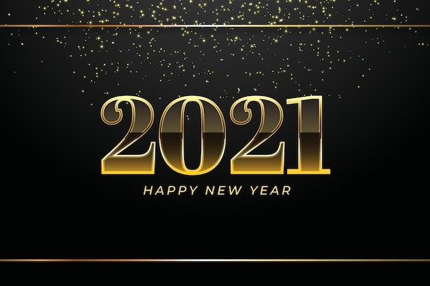 Fond Doré Nouvel An 2021 Vecteur gratuit