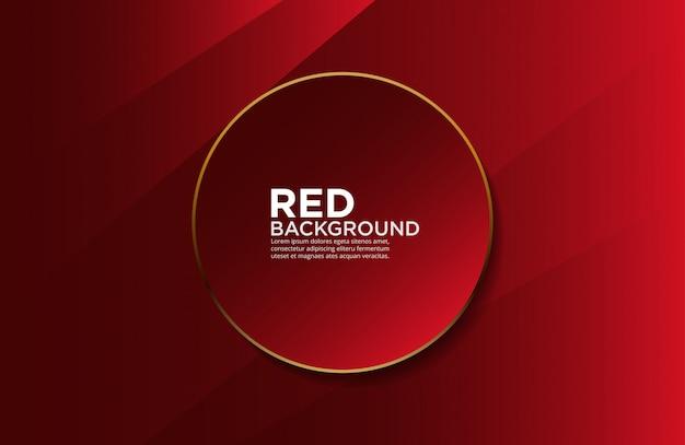 Fond doux rouge et or Vecteur Premium