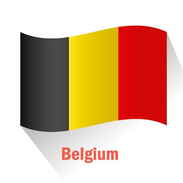 Fond de drapeau belge Vecteur gratuit