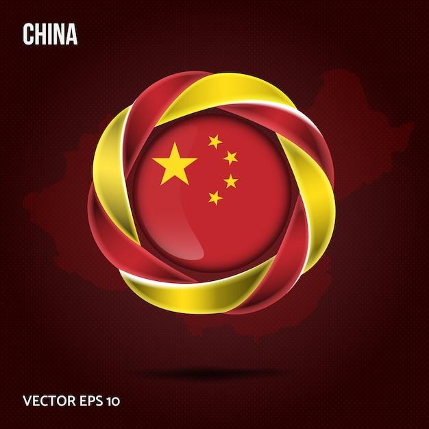 Fond De Drapeau De La Chine Vecteur Premium