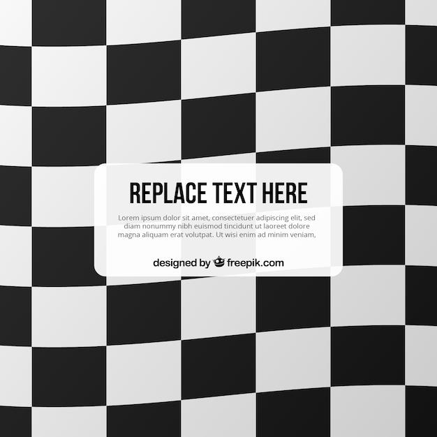 Fond de drapeau à damier avec un espace pour le texte Vecteur gratuit