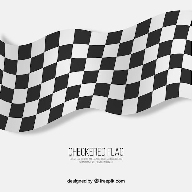 Fond de drapeau à damier Vecteur gratuit