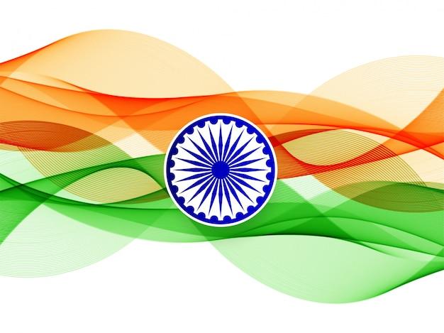 Fond De Drapeau Indien Ondulé Abstrait Vecteur gratuit