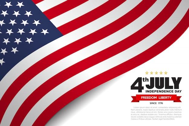 Fond De Drapeau Usa Drapeau Vecteur Premium