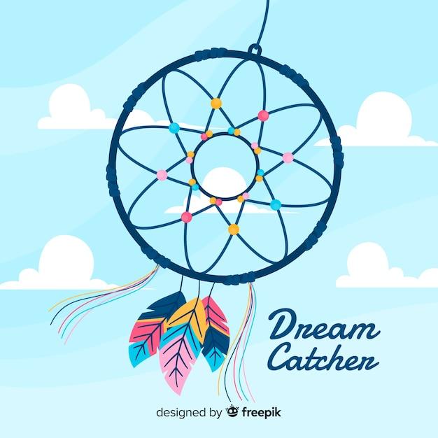 Fond de dreamcatcher Vecteur gratuit