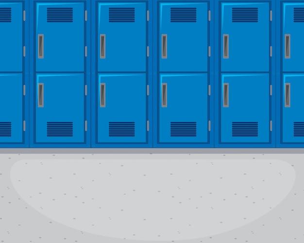 Le Fond Du Couloir Vide Vecteur Premium