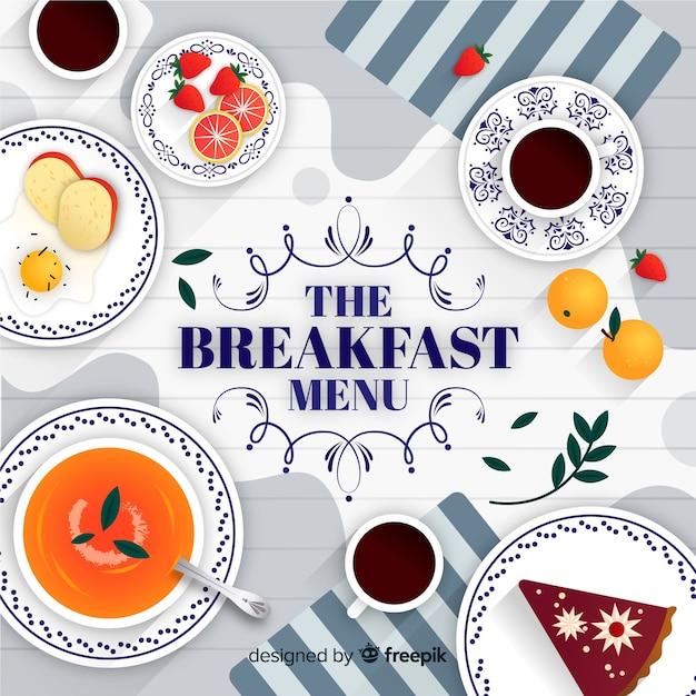 Fond du petit déjeuner Vecteur gratuit