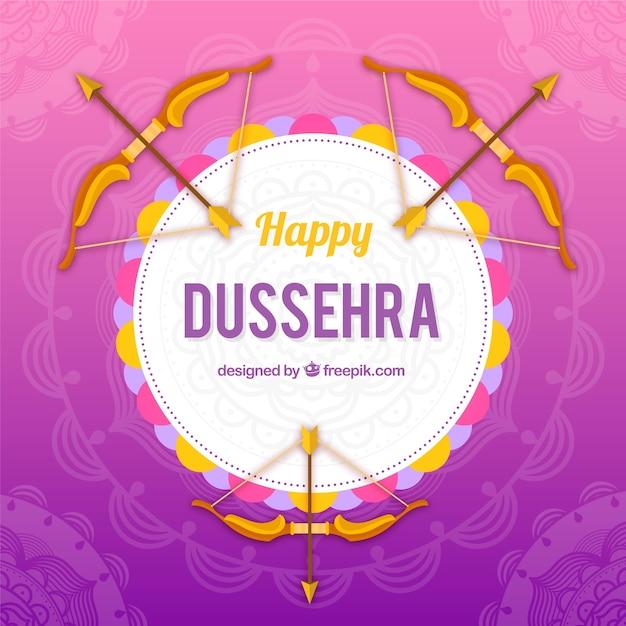 Fond de dussehra créatif avec des arcs Vecteur gratuit