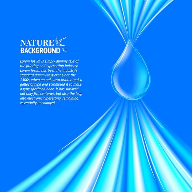 Fond D'eau Bleue Goutte. Vecteur gratuit