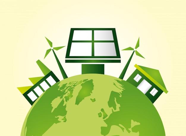 Fond écologique Vecteur gratuit