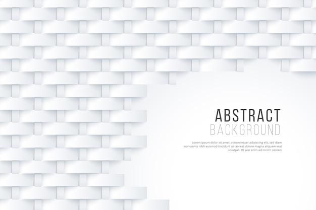 Fond D'écran Abstrait Blanc Dans Le Concept 3d Vecteur gratuit
