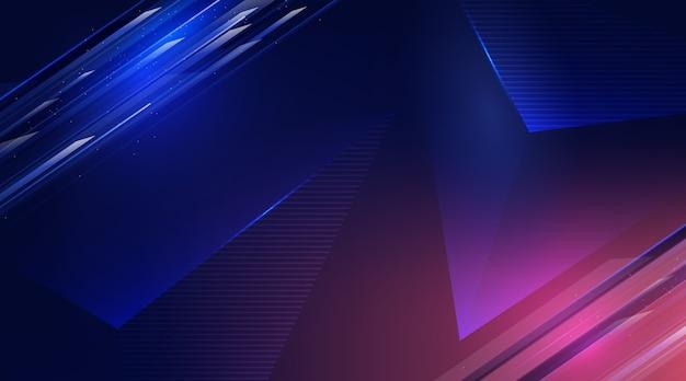 Fond d'écran abstrait futuriste Vecteur gratuit
