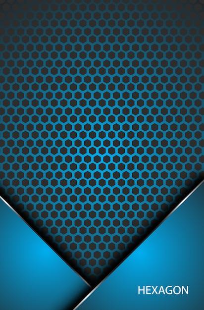 Fond D'écran Abstrait Hexagone Métallique Innovation Concept D'entreprise Vecteur Premium