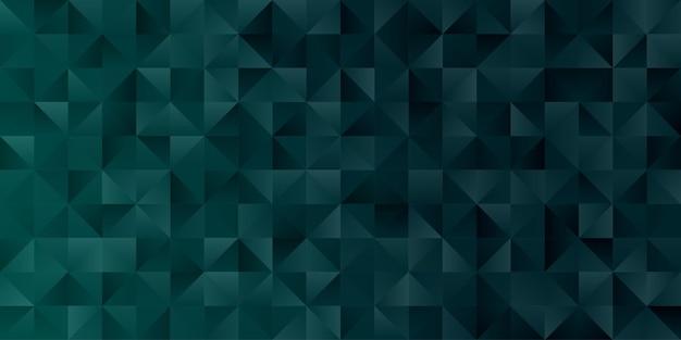 Fond D'écran Abstrait Polygone Géométrique. Cache-tête En Forme De Triangle Low Polly Vert émeraude Vecteur Premium