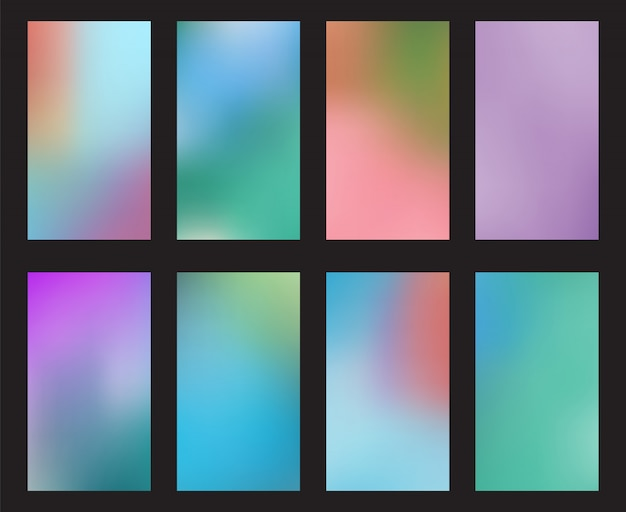 Fond d'écran abstrait smartphone fond d'écran smartphone écran mobile Vecteur Premium