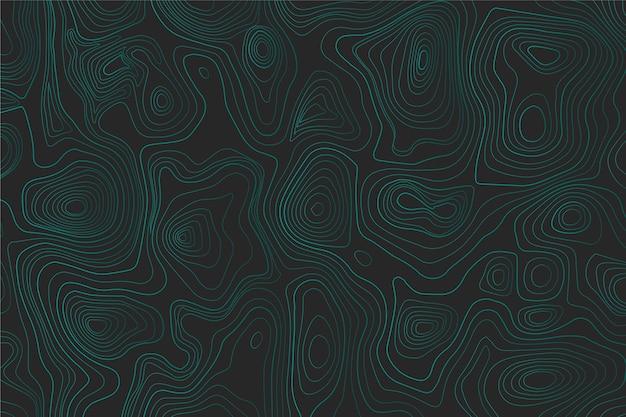 Fond D'écran De Carte Topographique Bleue Vecteur gratuit