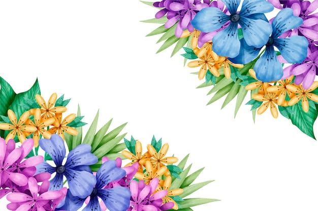 Fond D Ecran Colore De Printemps Aquarelle Vecteur Gratuite