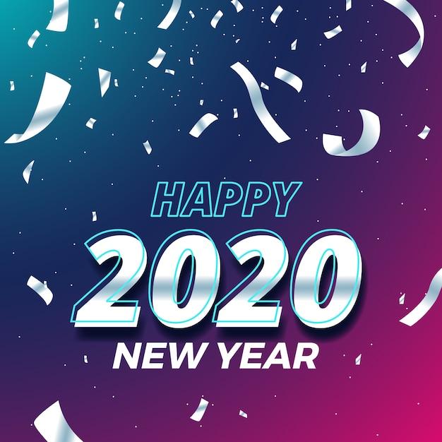 Fond D'écran Confetti Nouvel An 2020 | Vecteur Gratuite