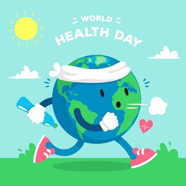 Fond D'écran Design Journée Mondiale De La Santé | Vecteur Gratuite