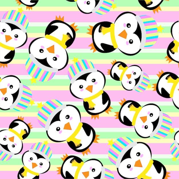 Fond D'écran Du Pingouin Vecteur gratuit