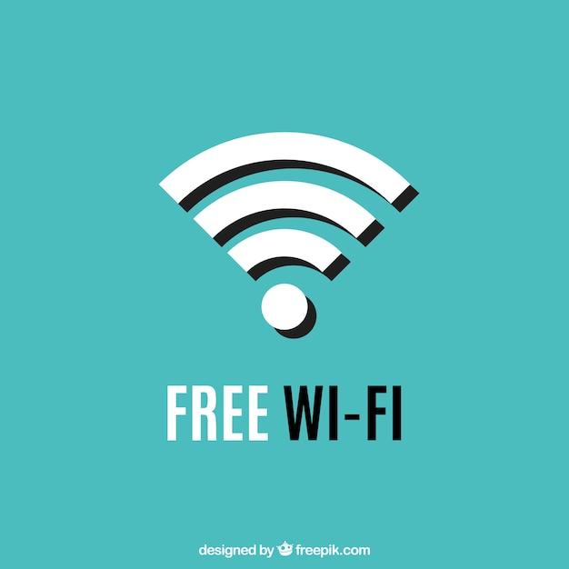 Fond D'écran Du Symbole Wifi Vecteur gratuit