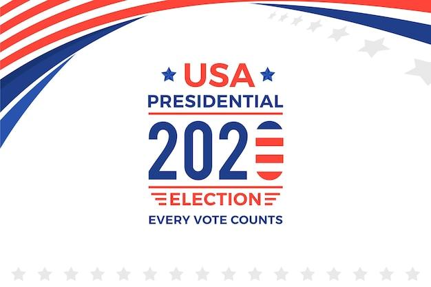 Fond D'écran De L'élection Présidentielle Américaine 2020 Vecteur Premium